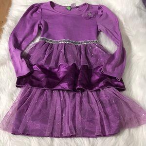 Dollie & Me Girls Long Sleeve dress size 10 purple